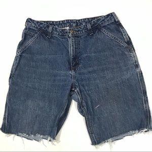 Vintage Carhartt High Rise Mom Jean Cutoff Shorts
